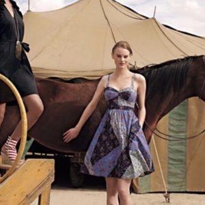 Anthropologie Maeve Calico Patchwork Dress